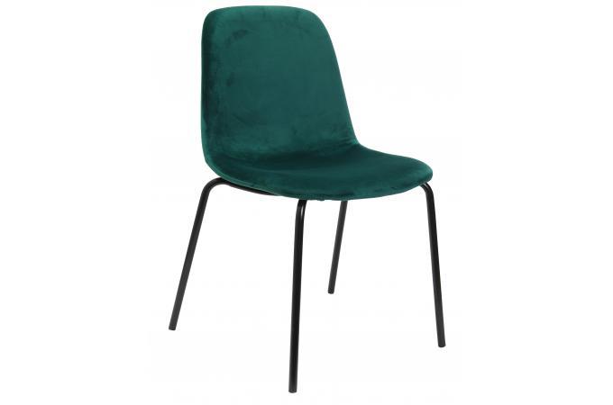 chaise en velours vert emeraude velvito chaise design pas cher. Black Bedroom Furniture Sets. Home Design Ideas