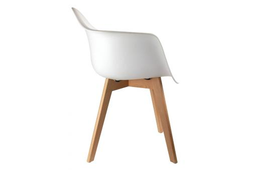 Chaise Enfant Scandinave Blanc Avec Accoudoirs BABY FJORD