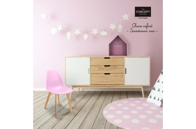 chaise enfant scandinave rose baby fjord chambre enfant b b pas cher. Black Bedroom Furniture Sets. Home Design Ideas