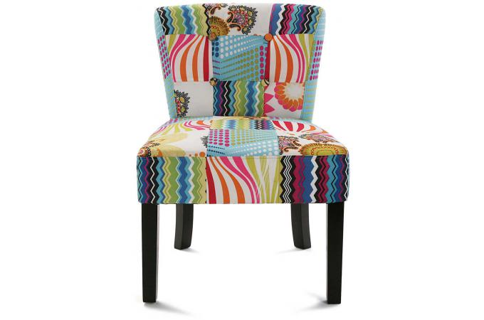 chaise multicolore chaise chaise patchwork lgant chaise wooden flower patchwork chaises. Black Bedroom Furniture Sets. Home Design Ideas