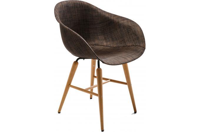 Chaise marron avec accoudoirs forum chaise design pas cher for Chaise marron pas cher
