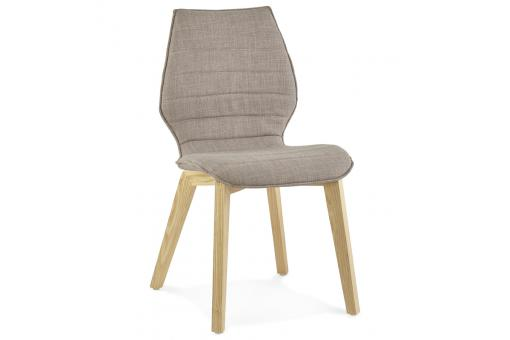 Chaise gris clair en tissu style scandinave HALO