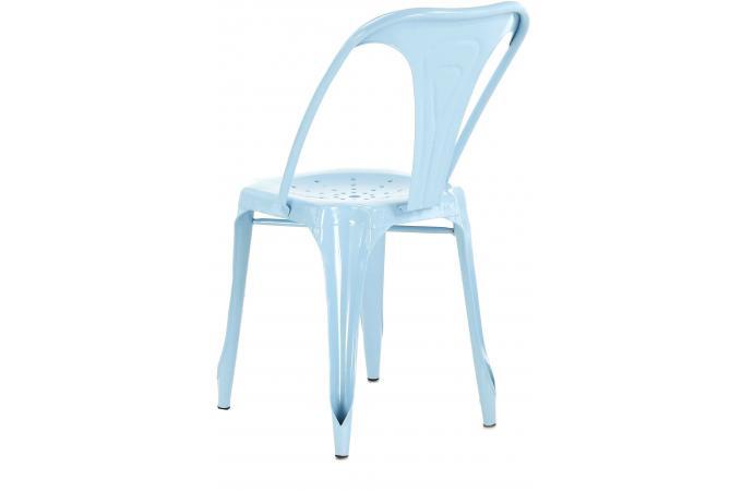 chaise industrielle bleu clair kirk chaise design pas cher. Black Bedroom Furniture Sets. Home Design Ideas