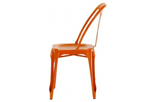 Chaise Industrielle Orange KIRK