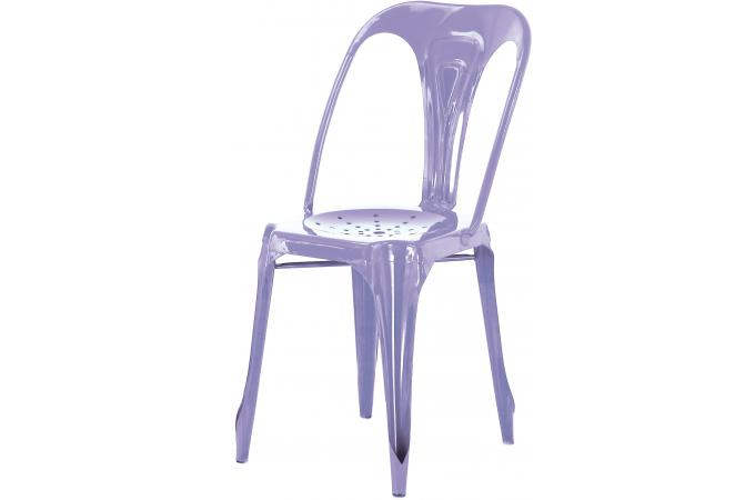 chaise industrielle violette m tal kirk chaise design. Black Bedroom Furniture Sets. Home Design Ideas
