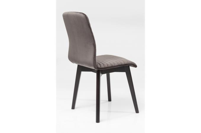 Chaise kare design impression velours anthracite lara chaise design pas cher for Chaise kare design
