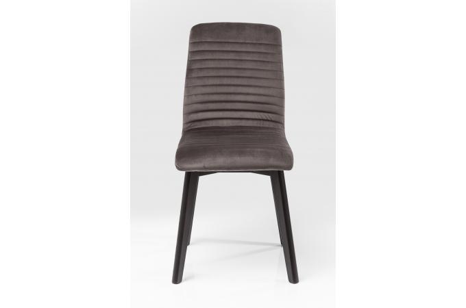 chaise kare design impression velours anthracite lara chaise design pas cher. Black Bedroom Furniture Sets. Home Design Ideas