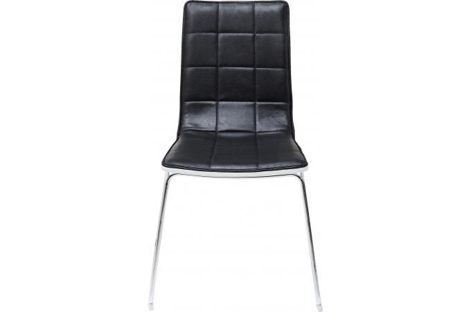 Chaise kare design noire fidelity chaise design pas cher for Chaise kare design