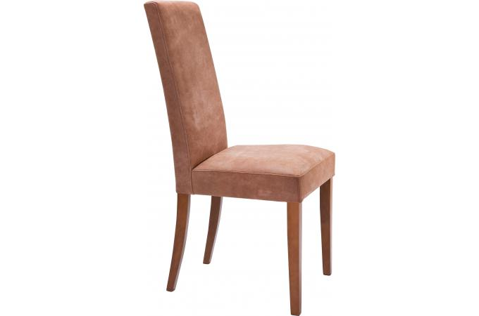 chaise marron clair dos droit allan chaise design pas cher. Black Bedroom Furniture Sets. Home Design Ideas