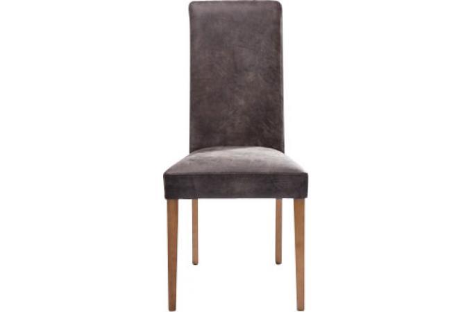 chaise marron en cuir de vachette sylvia chaise design pas cher. Black Bedroom Furniture Sets. Home Design Ideas