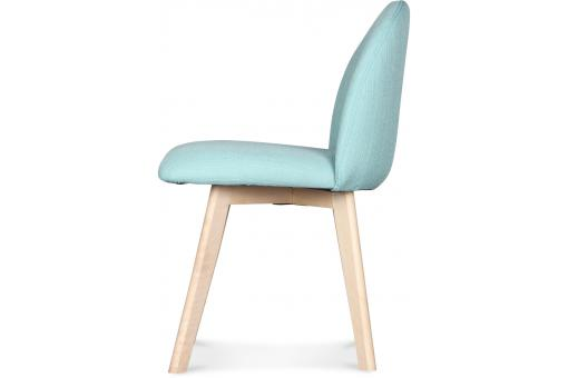 Chaise Style Scandinave Tissu Turquoise IGOR