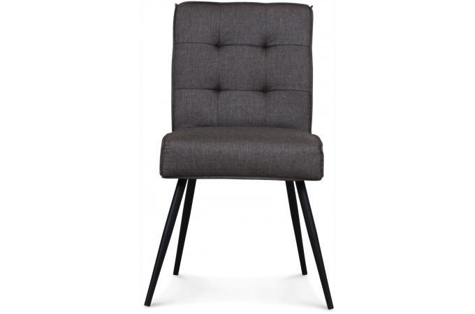 Chaise tissu gris narda chaise design pas cher for Chaise tissu gris