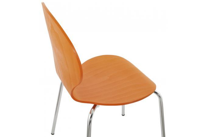 chaise orange en bois matthew chaise design pas cher. Black Bedroom Furniture Sets. Home Design Ideas