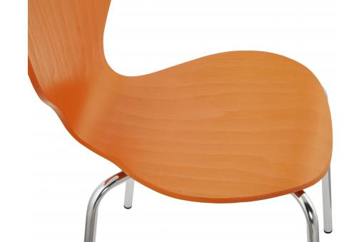 Chaise orange en bois MATTHEW