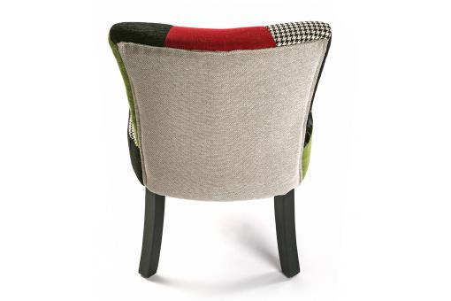 Chaise patchwork multicolore leon chaise design pas cher for Chaise multicolore