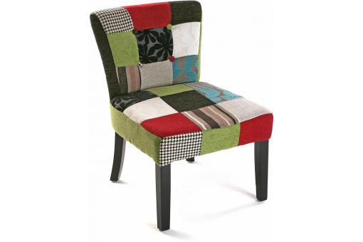 chaise patchwork multicolore leon chaise design pas cher. Black Bedroom Furniture Sets. Home Design Ideas