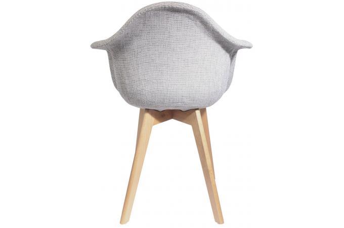 chaise scandinave avec accoudoir en maille grise fjord. Black Bedroom Furniture Sets. Home Design Ideas