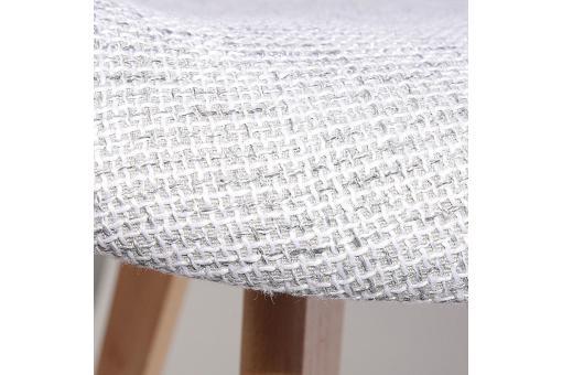 chaise scandinave avec accoudoir en maille grise fjord chaise design pas cher. Black Bedroom Furniture Sets. Home Design Ideas