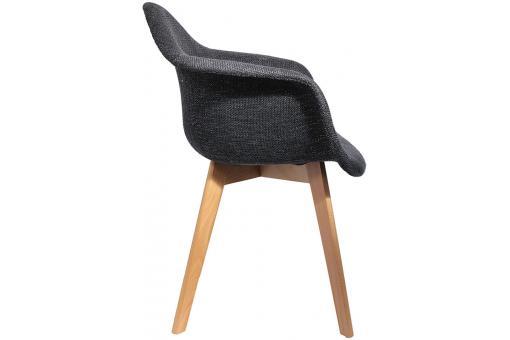 chaise scandinave avec accoudoir en maille noire fjord chaise design pas cher. Black Bedroom Furniture Sets. Home Design Ideas
