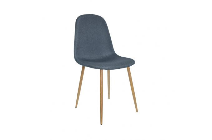 Lot de 4 chaises scandinaves bleu hamar chaise design for Lot 4 chaises scandinaves