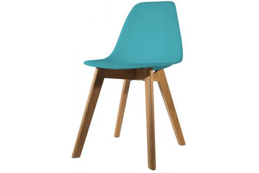 Chaise Scandinave Coque Bleue Canard FJORD