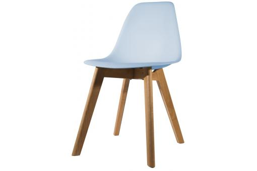 Chaise Scandinave Coque Bleue FJORD