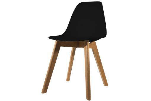 Chaise Scandinave Coque Noire FJORD - Salle a manger scandinave
