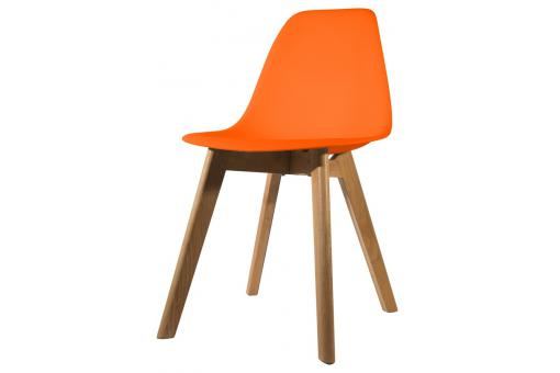 Chaise Scandinave Coque Orange FJORD