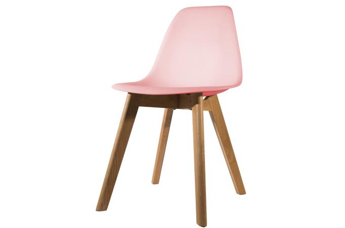 Chaise scandinave coque rose fjord chaise design pas cher for Chaise rose