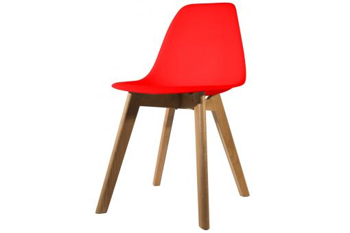 Chaise Scandinave Coque Rouge FJORD