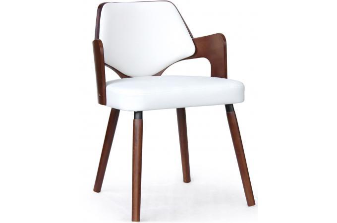 chaise scandinave effet cuir noisette et blanc axel. Black Bedroom Furniture Sets. Home Design Ideas