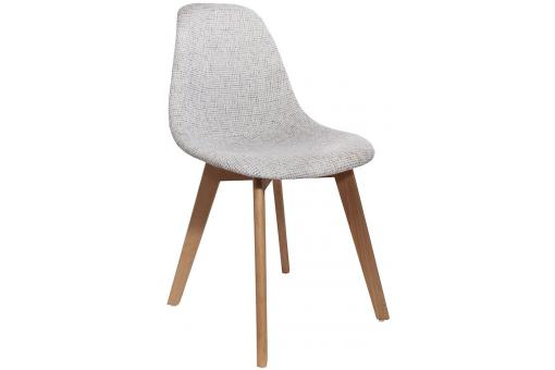 Chaise Scandinave en Maille Grise FJORD - Salle a manger scandinave
