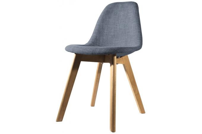 Chaise scandinave en tissu bleue fjord chaise design pas for Chaise scandinave pas cher