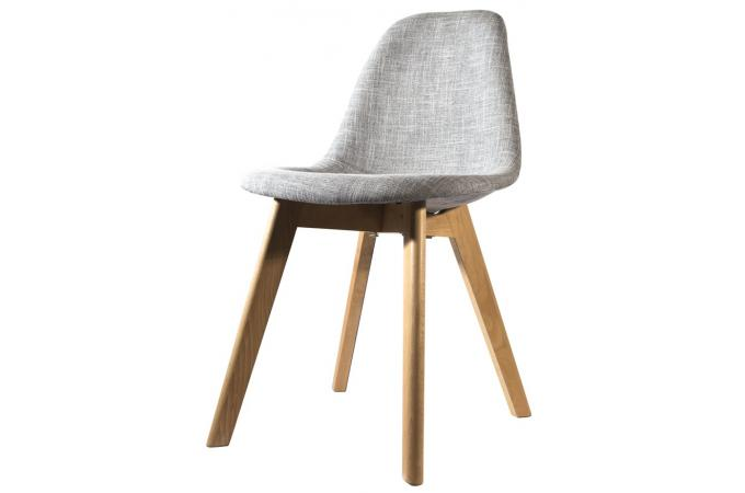Chaise scandinave en tissu grise fjord chaise design pas for Chaise scandinave pas cher
