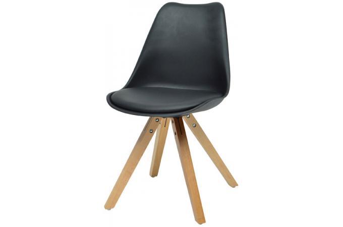 chaise scandinave noire nicolas - Chaise Scandinave Noir