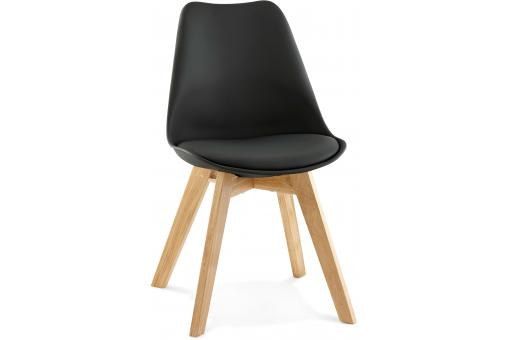 Chaise Scandinave Noire ROBY