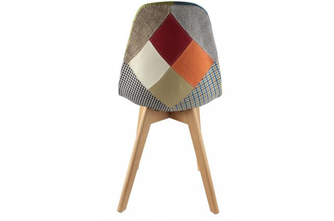 Chaise scandinave patchwork color fjord chaise design for Chaise design colore