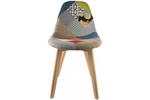 Chaise scandinave patchwork coloré OLFUS