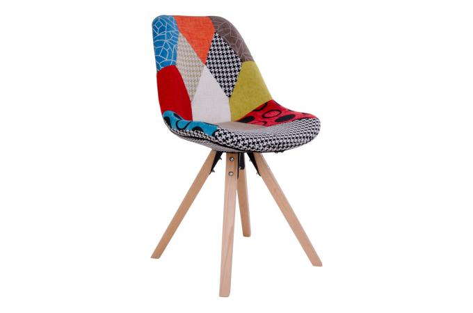chaise scandinave patchwork multicolore else chaise design pas cher. Black Bedroom Furniture Sets. Home Design Ideas