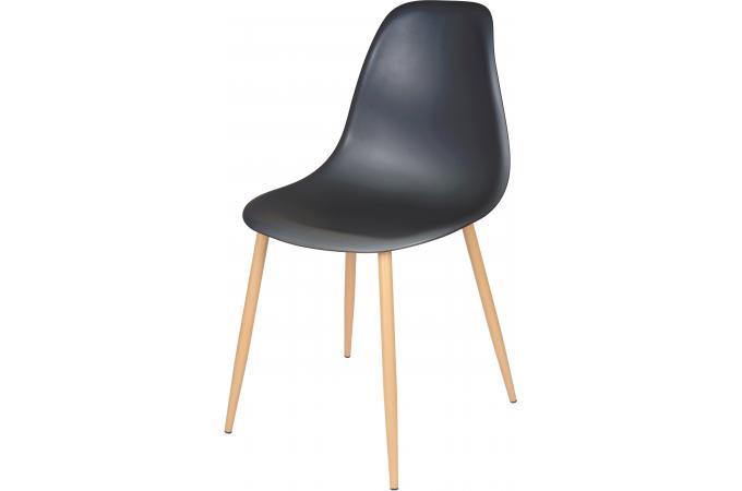 chaise style scandinave en acier noire 44x53x86 lachaise chaise design pas cher. Black Bedroom Furniture Sets. Home Design Ideas