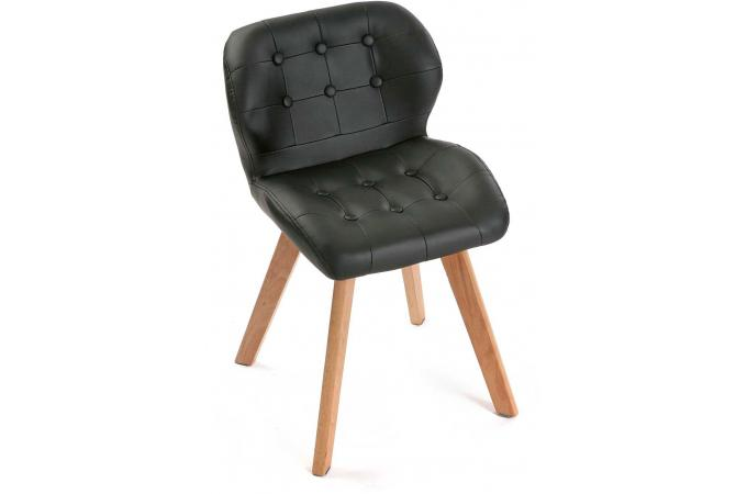 Chaise style scandinave noire letona chaise design pas cher - Chaise style scandinave pas cher ...