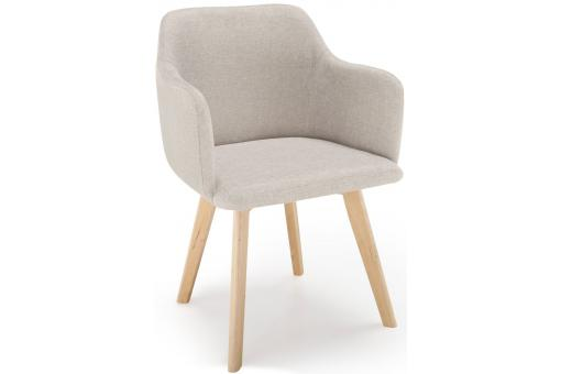 Chaise style scandinave tissu beige saga chaise design - Chaise beige pas cher ...
