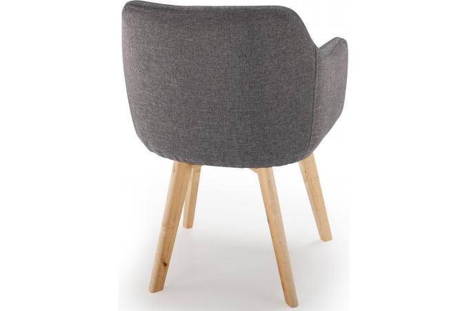 Style Scandinave Tissu Cher Pas Foncé Chaise Saga Design Gris fY6yvgb7