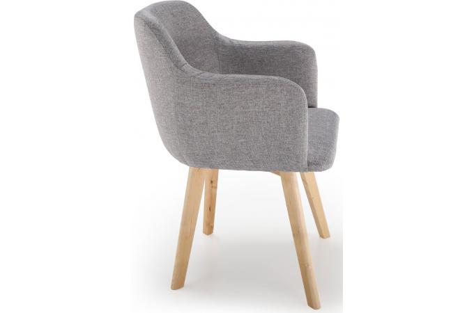 Chaise Style Scandinave Tissu Gris Saga Chaise Design Pas Cher