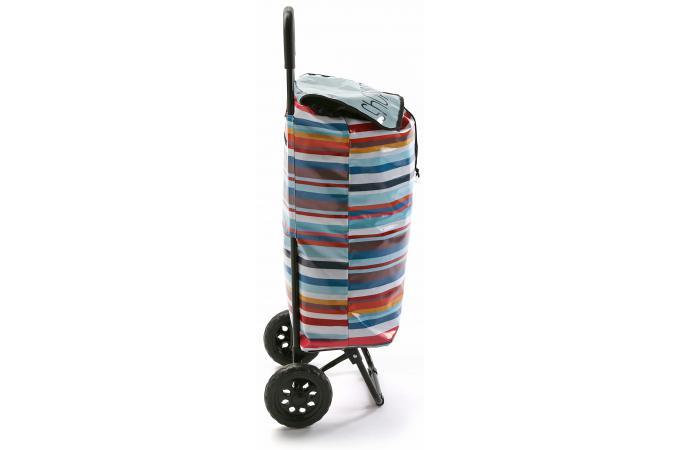 chariot de course multicolore 2 roulettes ray peps accessoires cuisine sali re gant. Black Bedroom Furniture Sets. Home Design Ideas