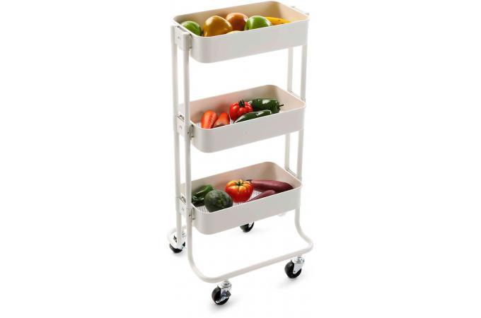 chariot de cuisine 3 plateaux eletek accessoires cuisine sali re gant pas cher. Black Bedroom Furniture Sets. Home Design Ideas