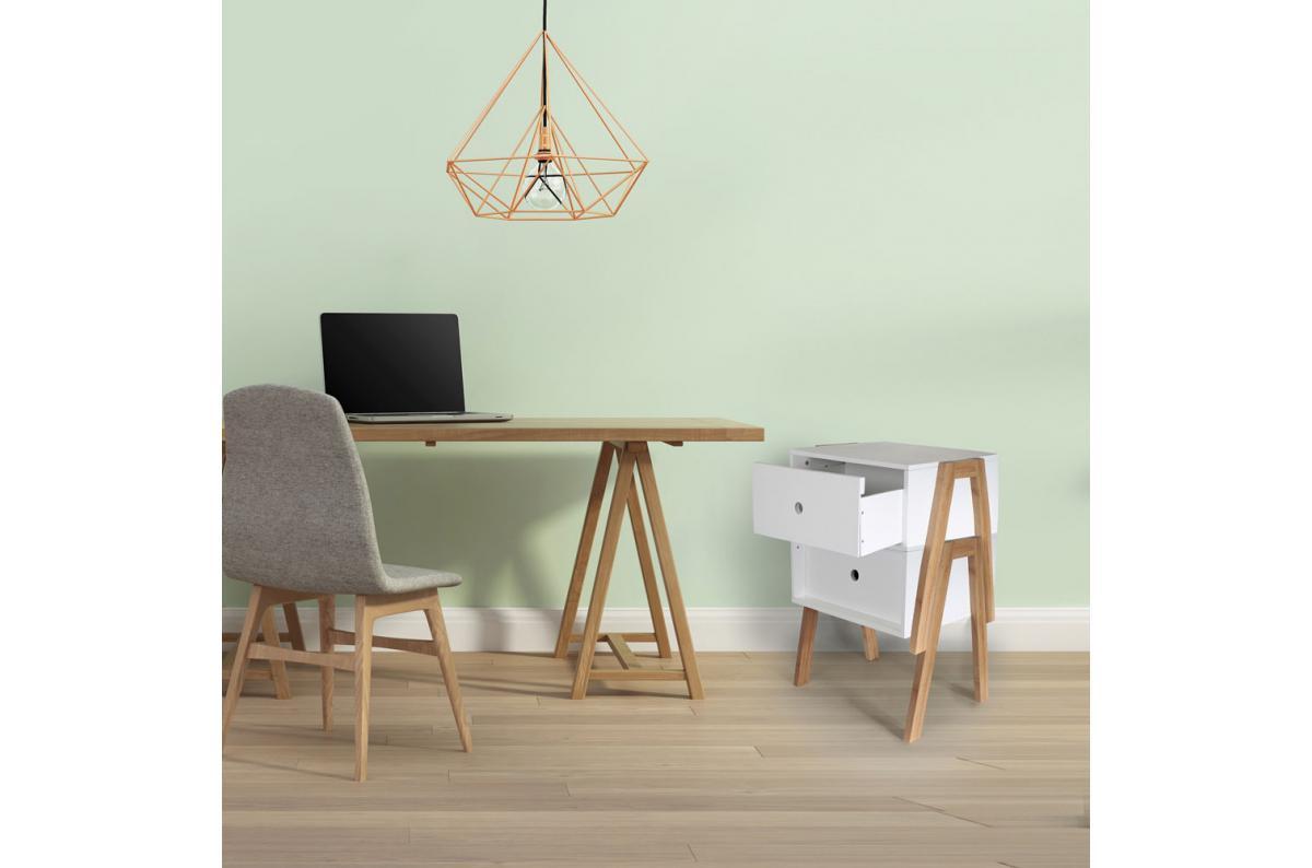 tables de chevet Anja empilées pour devenir un meuble de rangement