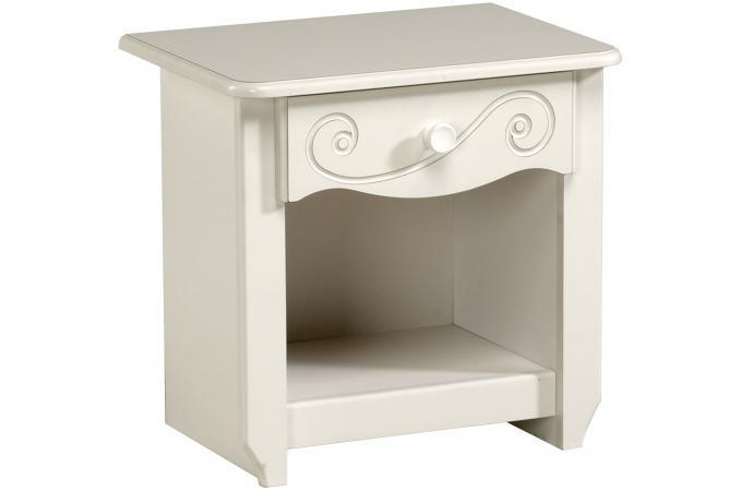 table de chevet pour chambre enfant blanc laqu young chambre enfant b b pas cher. Black Bedroom Furniture Sets. Home Design Ideas