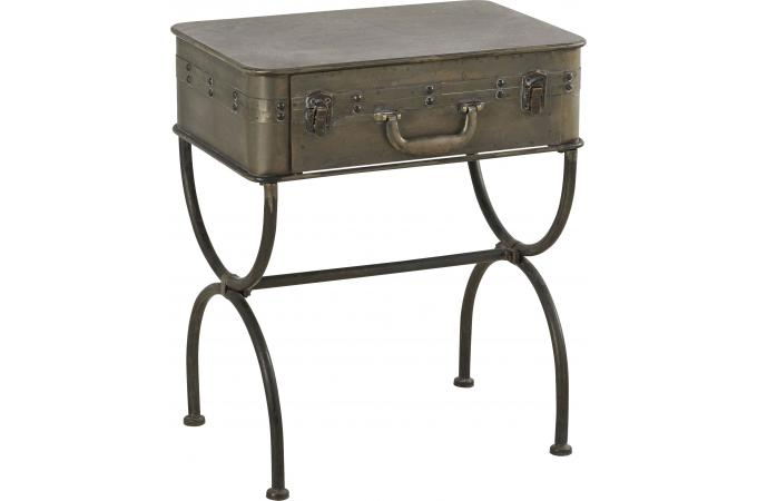 Chevet valise table de chevet pas cher for Table de chevet solde