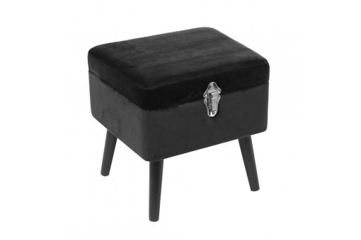 Tabouret coffre Velours Noir MARTIAL - 3s x home
